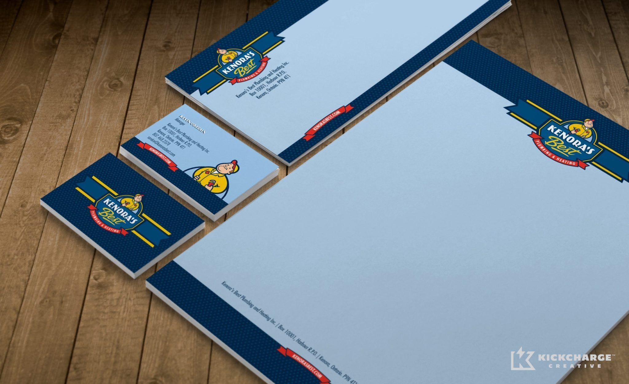 Stationery design for an HVAC company in Ontario, Canada.