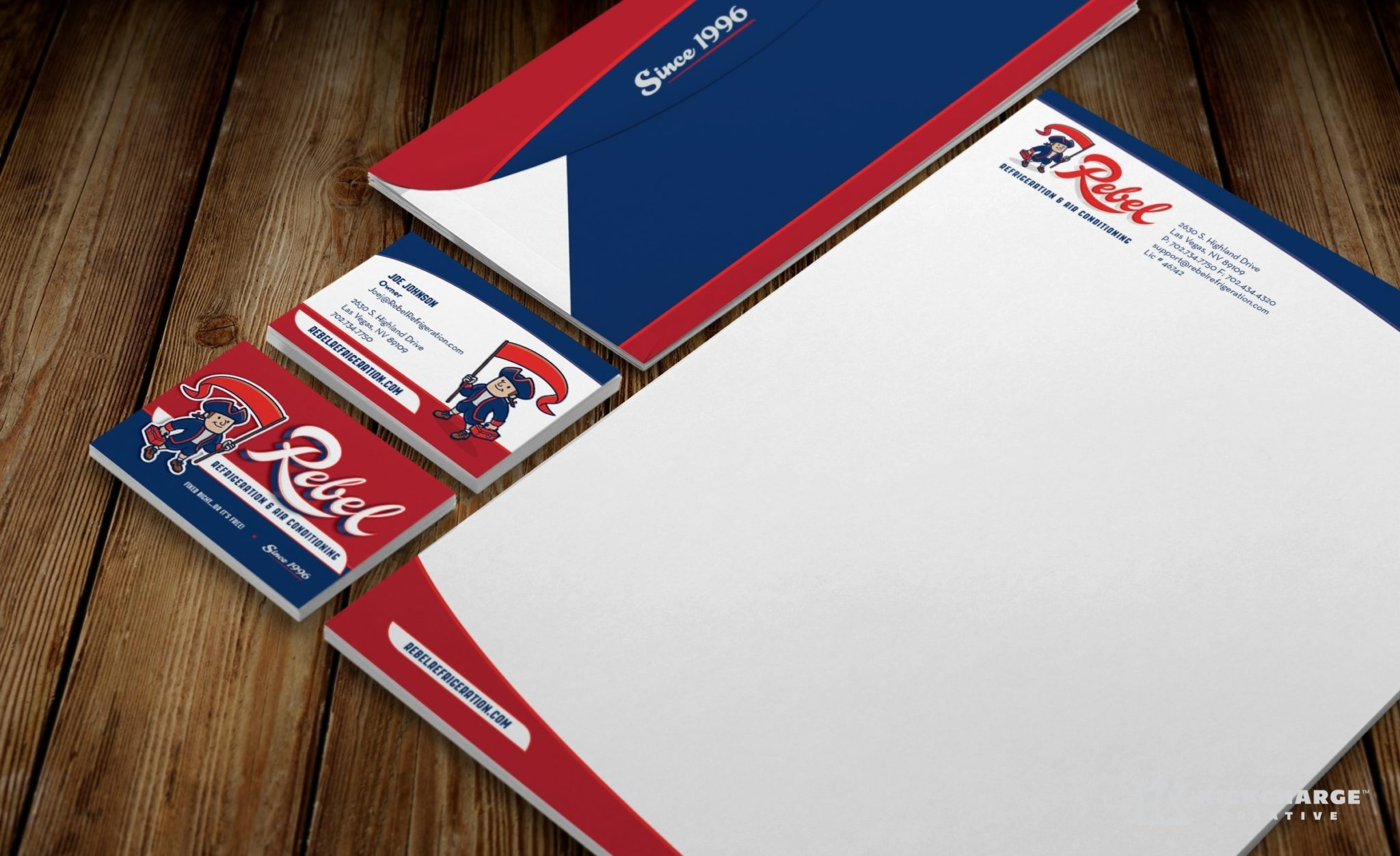 Stationery design for an HVAC and refrigeration company in Las Vegas, NV.