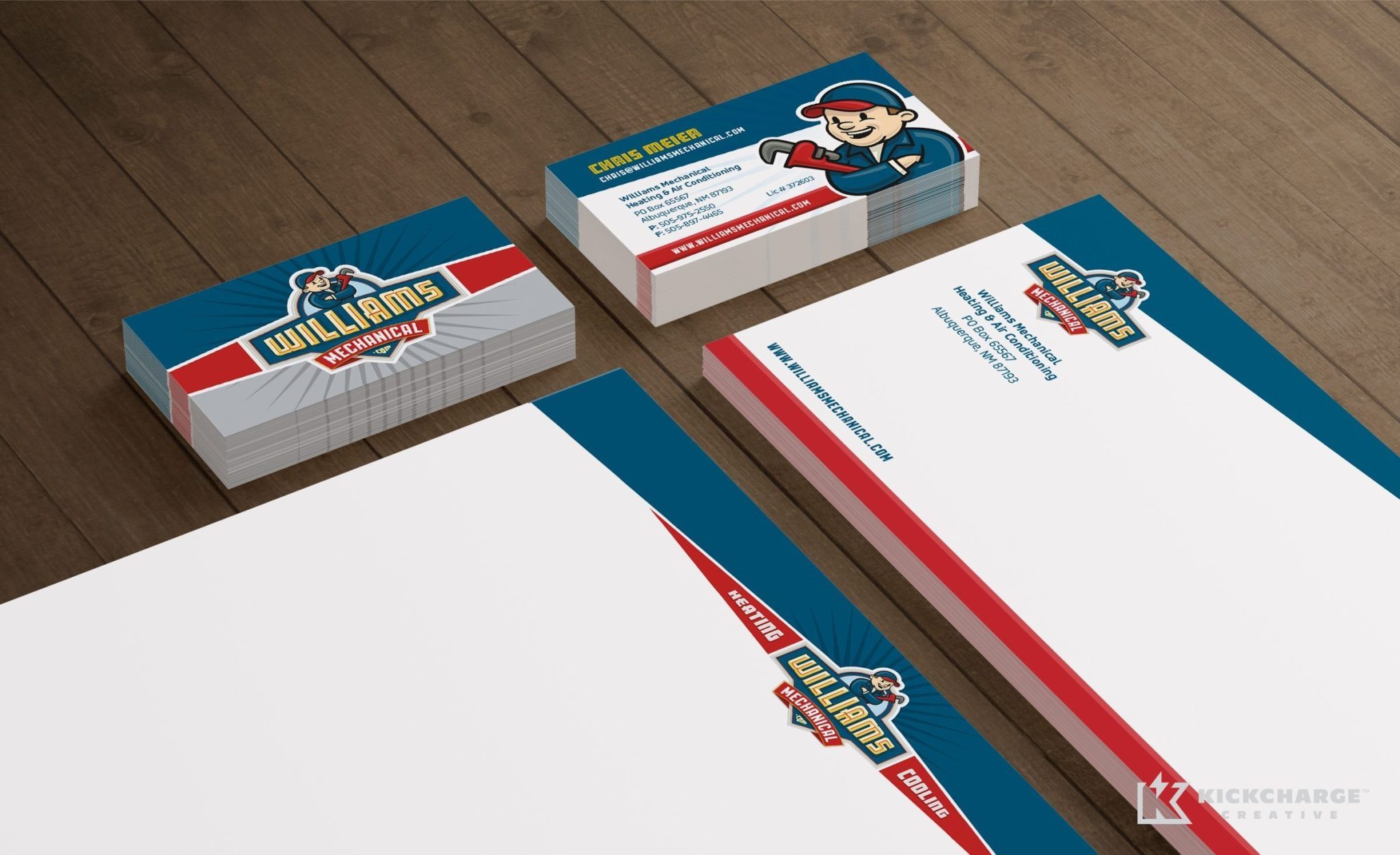 Stationery design for an HVAC contractor located in Albuquerque, NM.
