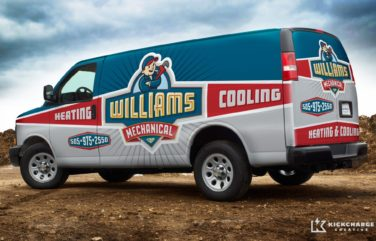 Fleet wrap design for an HVAC company in New Mexico.