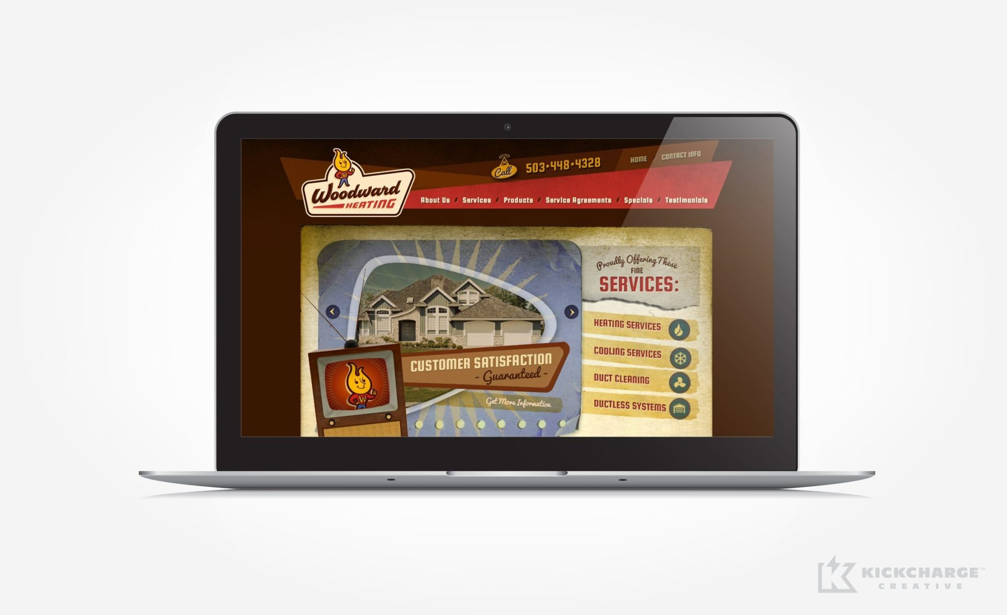 Website design for a full service HVAC contractor located in Aumsville, OR.