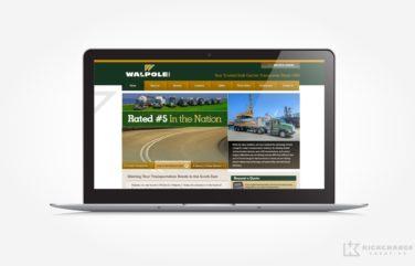 Website design for a trusted bulk carrier transporter.
