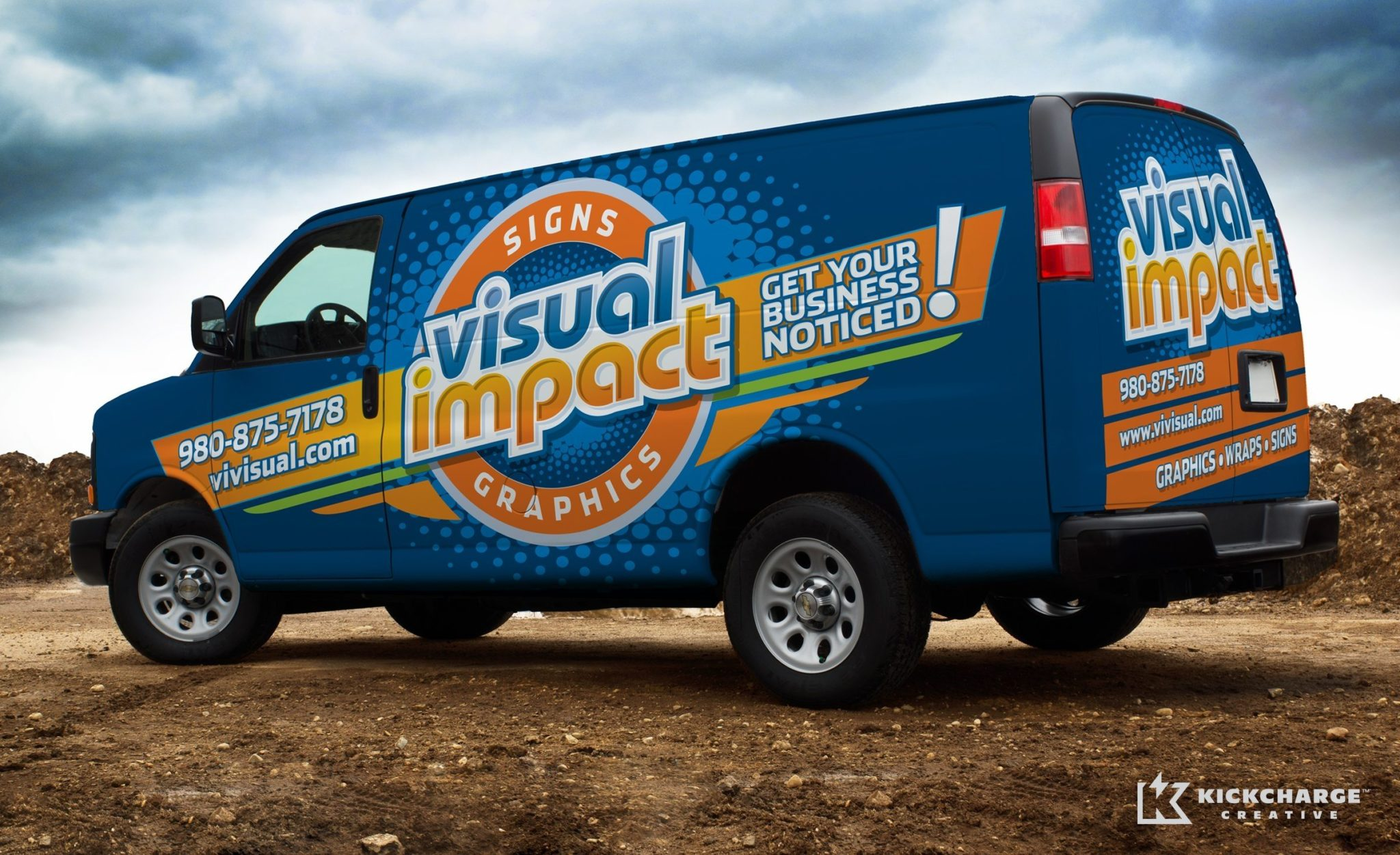 Fleet wrap design for a sign company located in Charlotte, NC.
