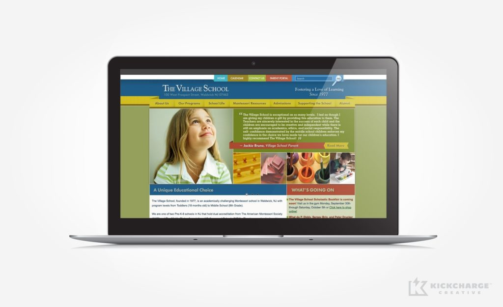 Web design for a Montessori school in Waldwick, NJ.