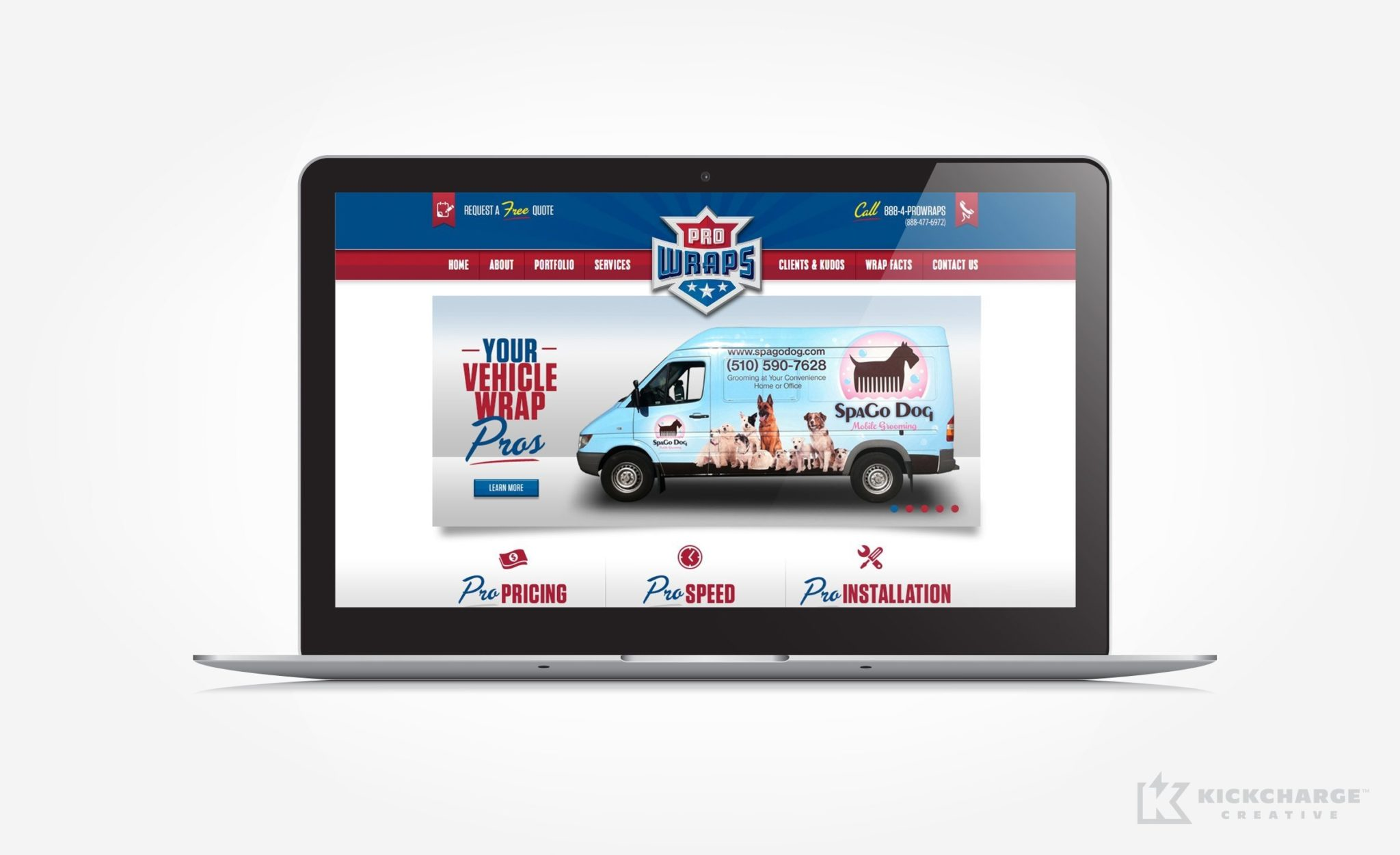 Web design for an amazing truck wrap company in Northern California.