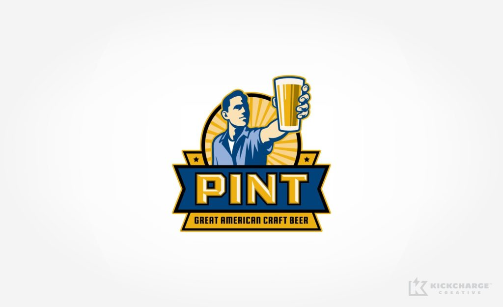 Retro logo design for craft beer bar in Hoboken, NJ.