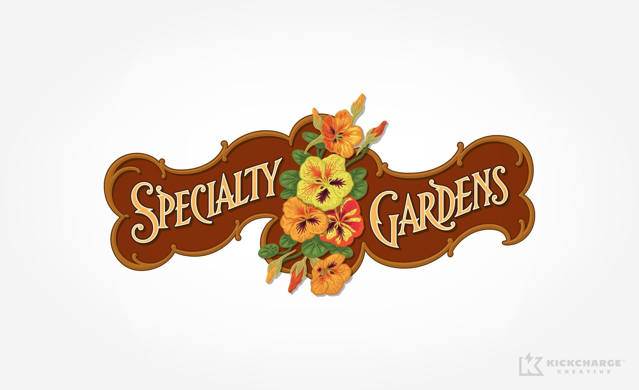 Retro logo design for a landscape contractor in Grand Haven, MI.