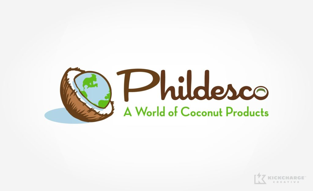 Logo design for importers of coconut products.