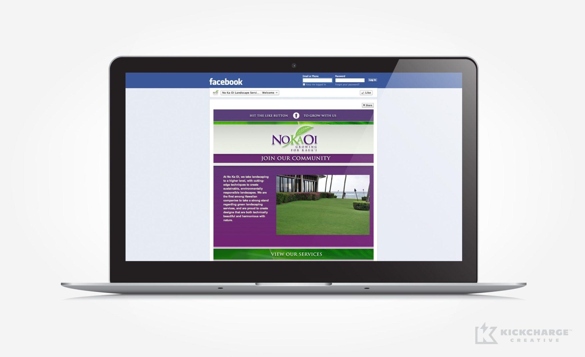 Social media designs for No Ka Oi Landscaping.