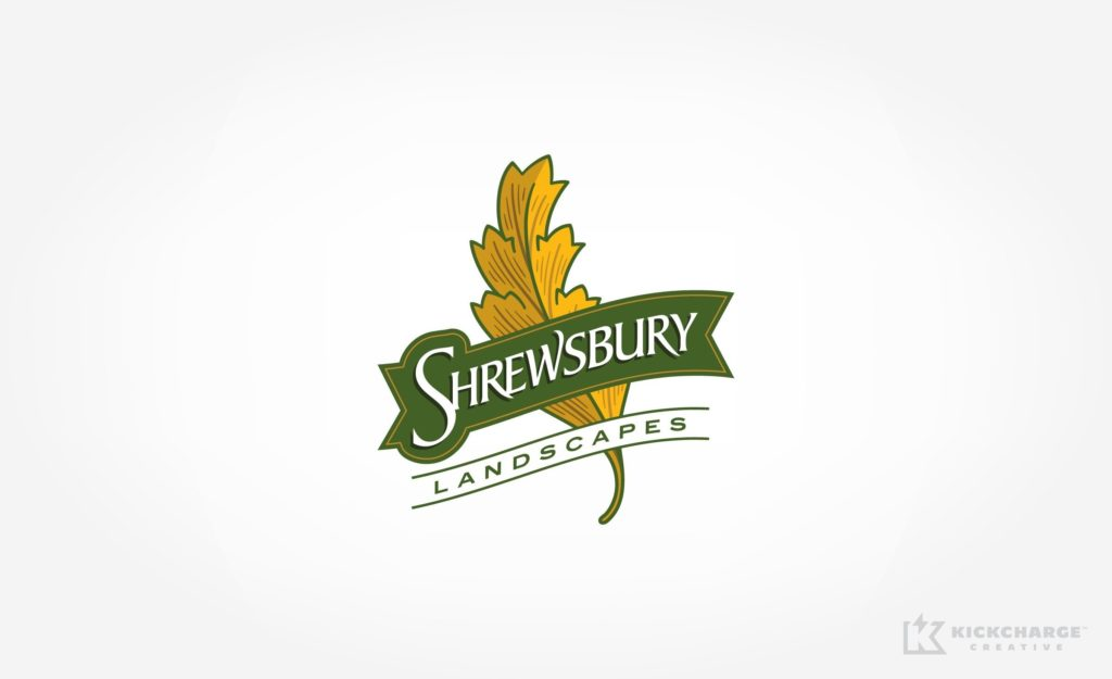 Logo design for a landscape company in Shrewsbury, MA.