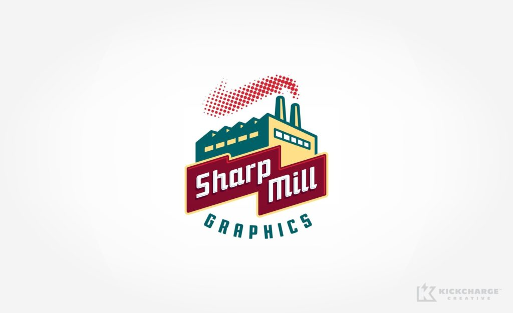 Logo for a signage and graphics company.