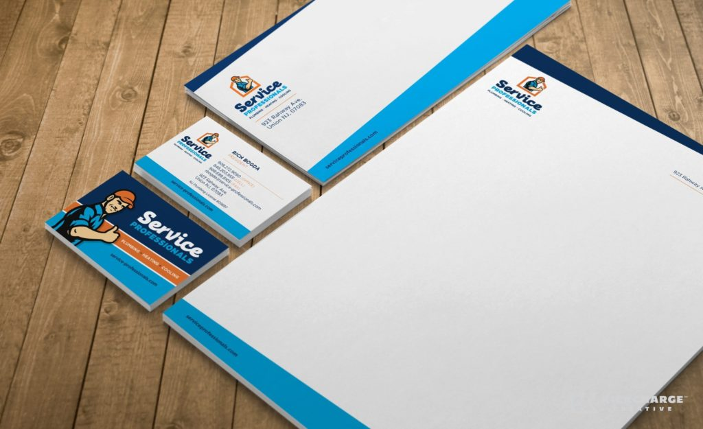 Stationery design for an HVAC and plumbing company located in Union, NJ.