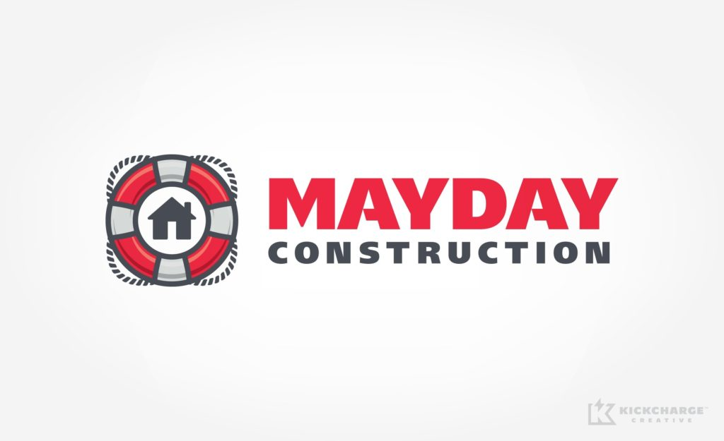 Logo design for construction and restoration company located in Michigan.