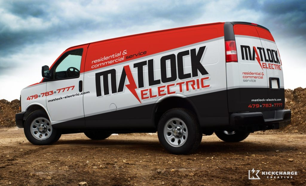Truck wrap design for Matlock Electric.