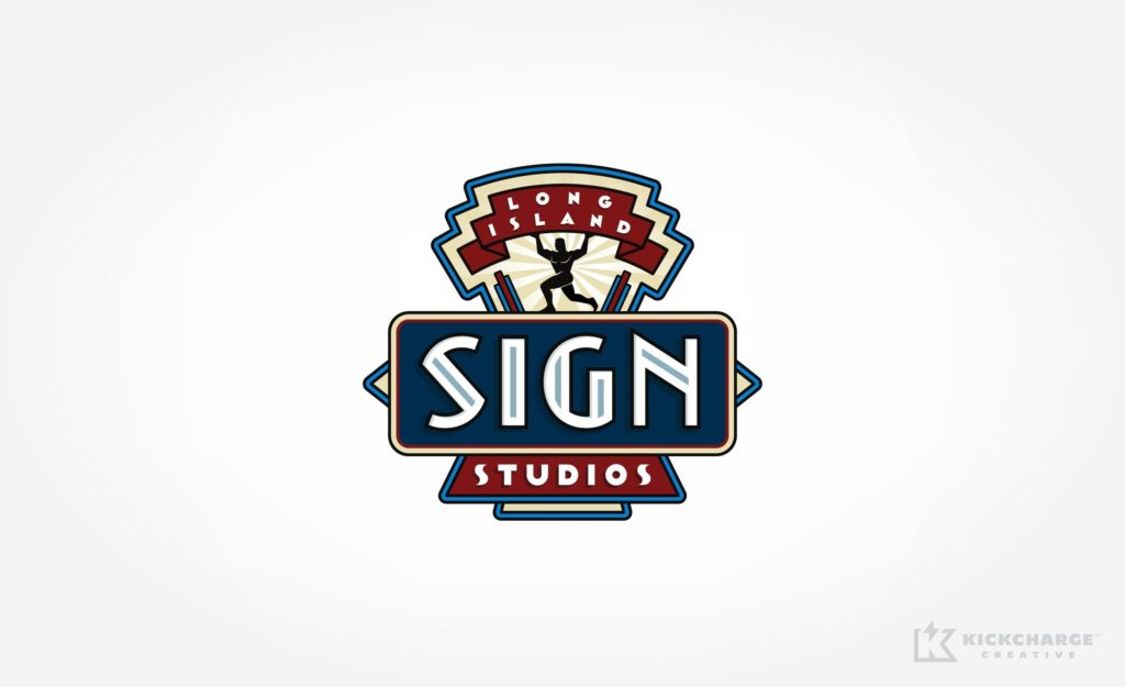 Custom logo design for a Long Island, NY based sign company.