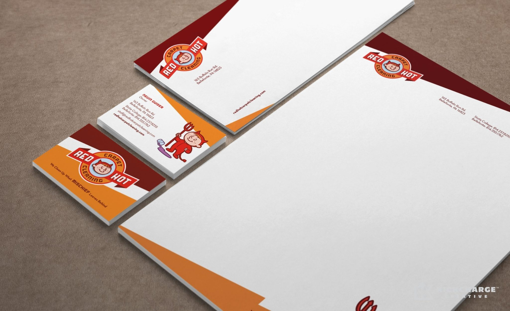 Stationery design for a carpet cleaning company in PA.
