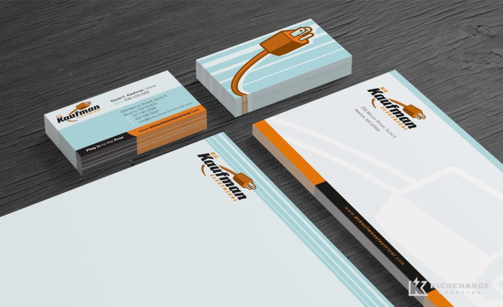 Stationery design for a Massachusetts based full-service electric company.