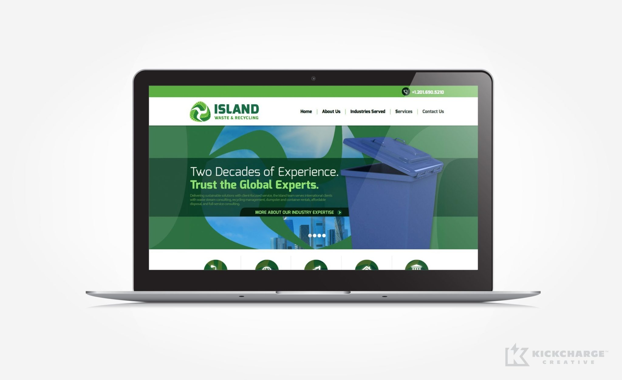 Website design for a waste and recycling brokerage firm located in Woodcliff Lake, NJ.