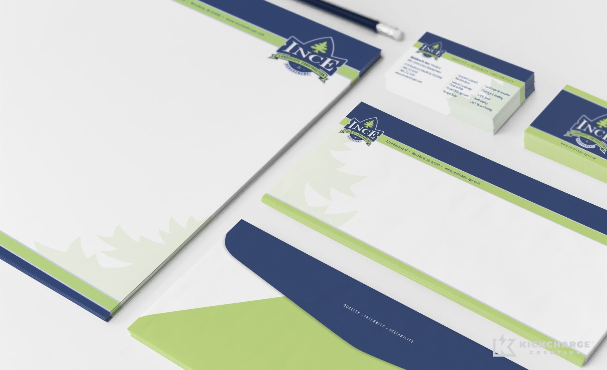 Stationery design for a landscape company in Scotch Plains, NJ.