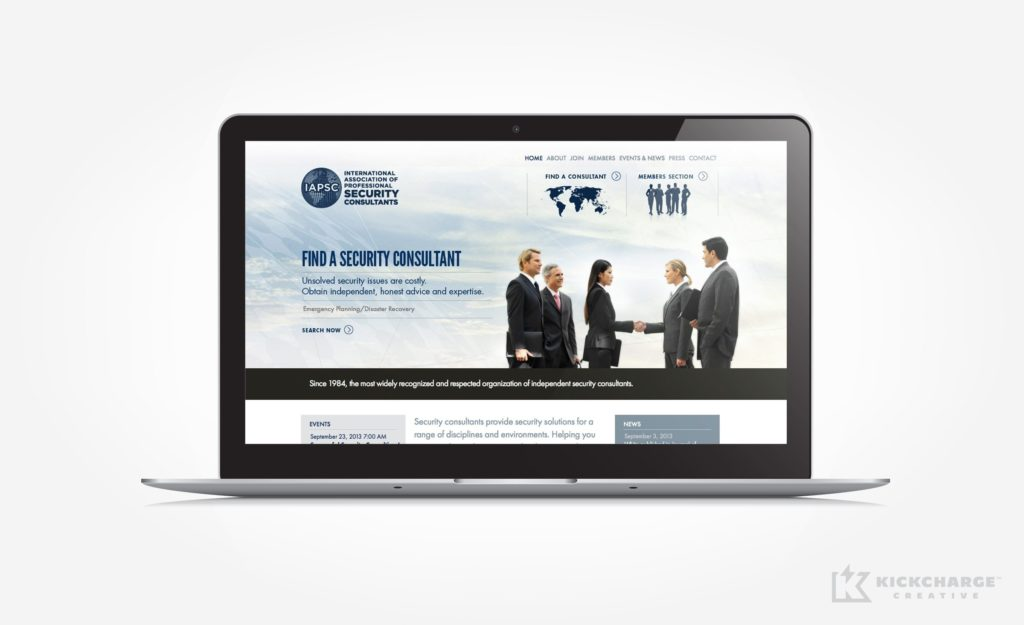 Website design for IAPSC.