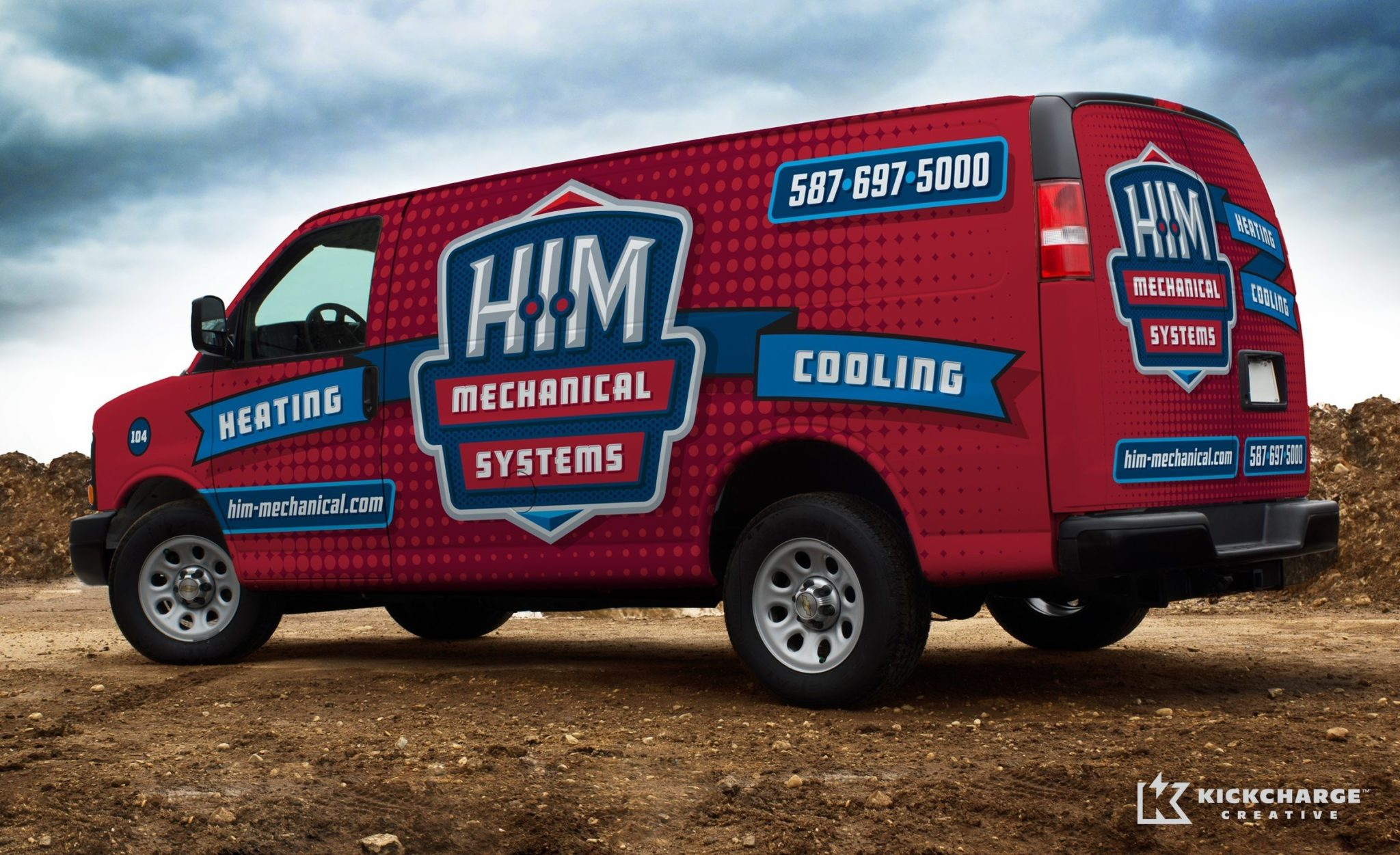 Sometimes the best trucks wraps are simple—as this example for a Bridgewater, MA based HVAC company shows.