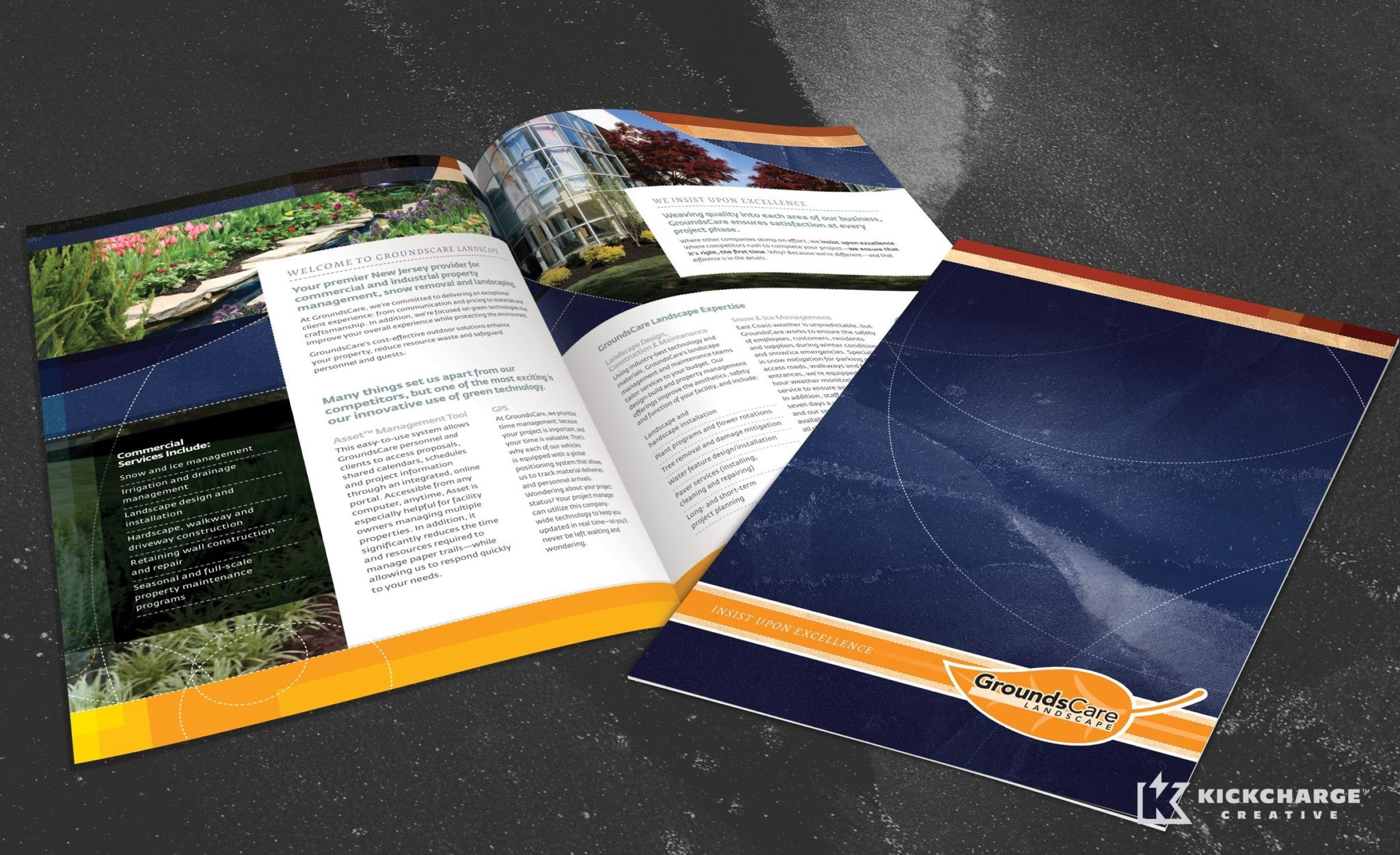 Full color brochure for GroundsCare Landscape located in Somerville, NJ