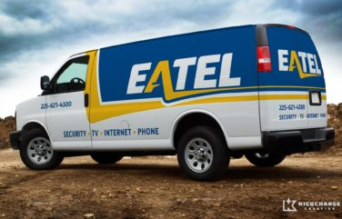 Fleet graphic design for Eatel, Louisiana's largest telecom and internet provider.