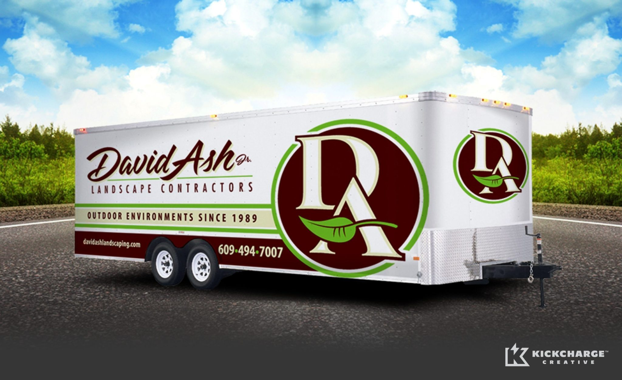 Trailer wrap design for a landscaping company in LBI, NJ.