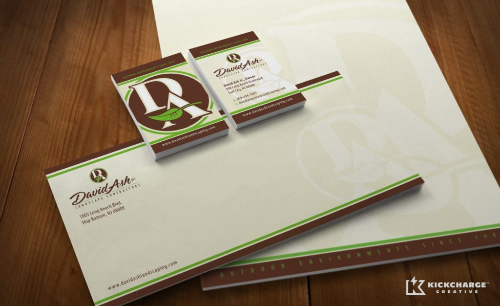 david ash landscaping stationery