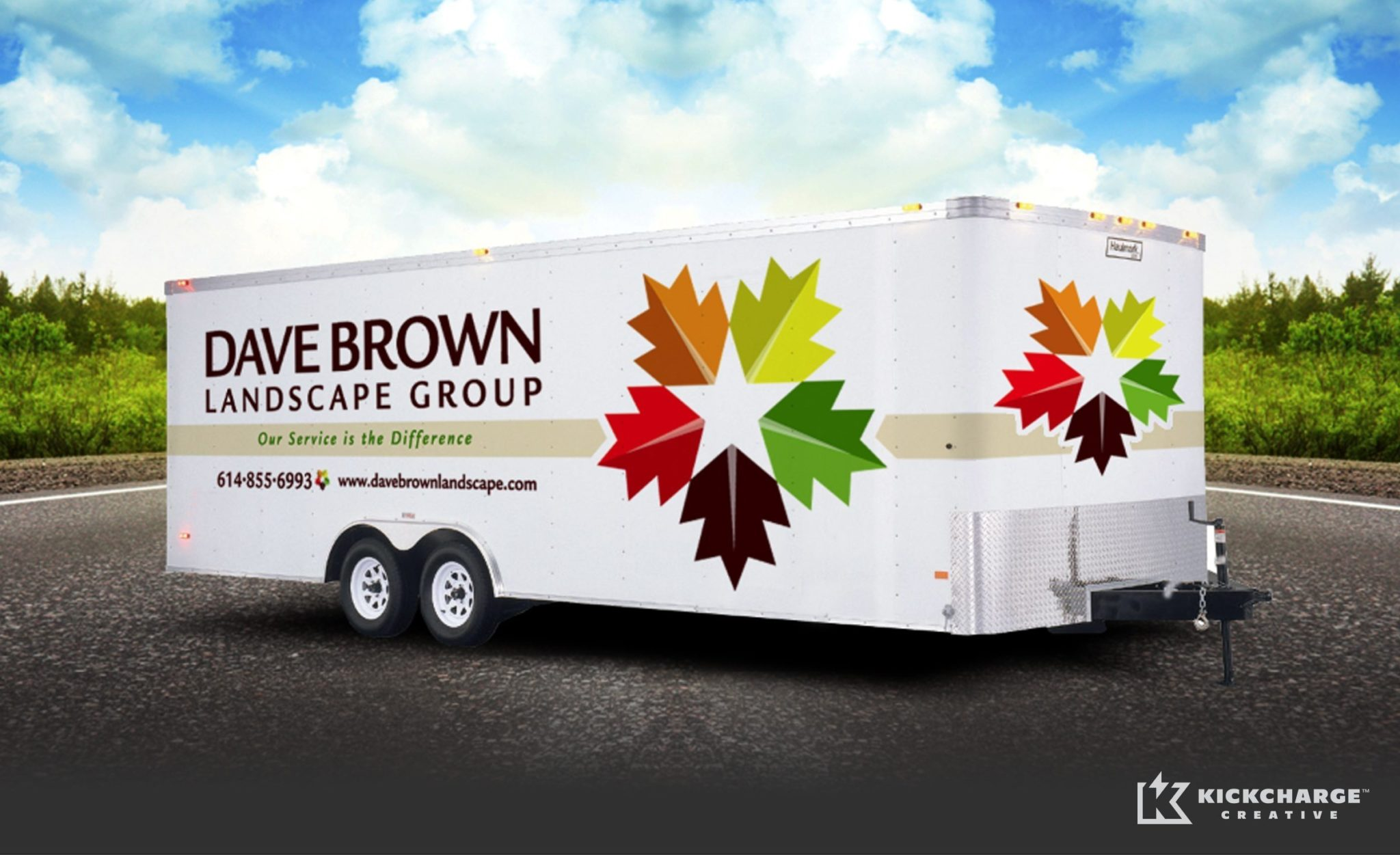 Trailer design for a Westerville, Ohio landscape company.