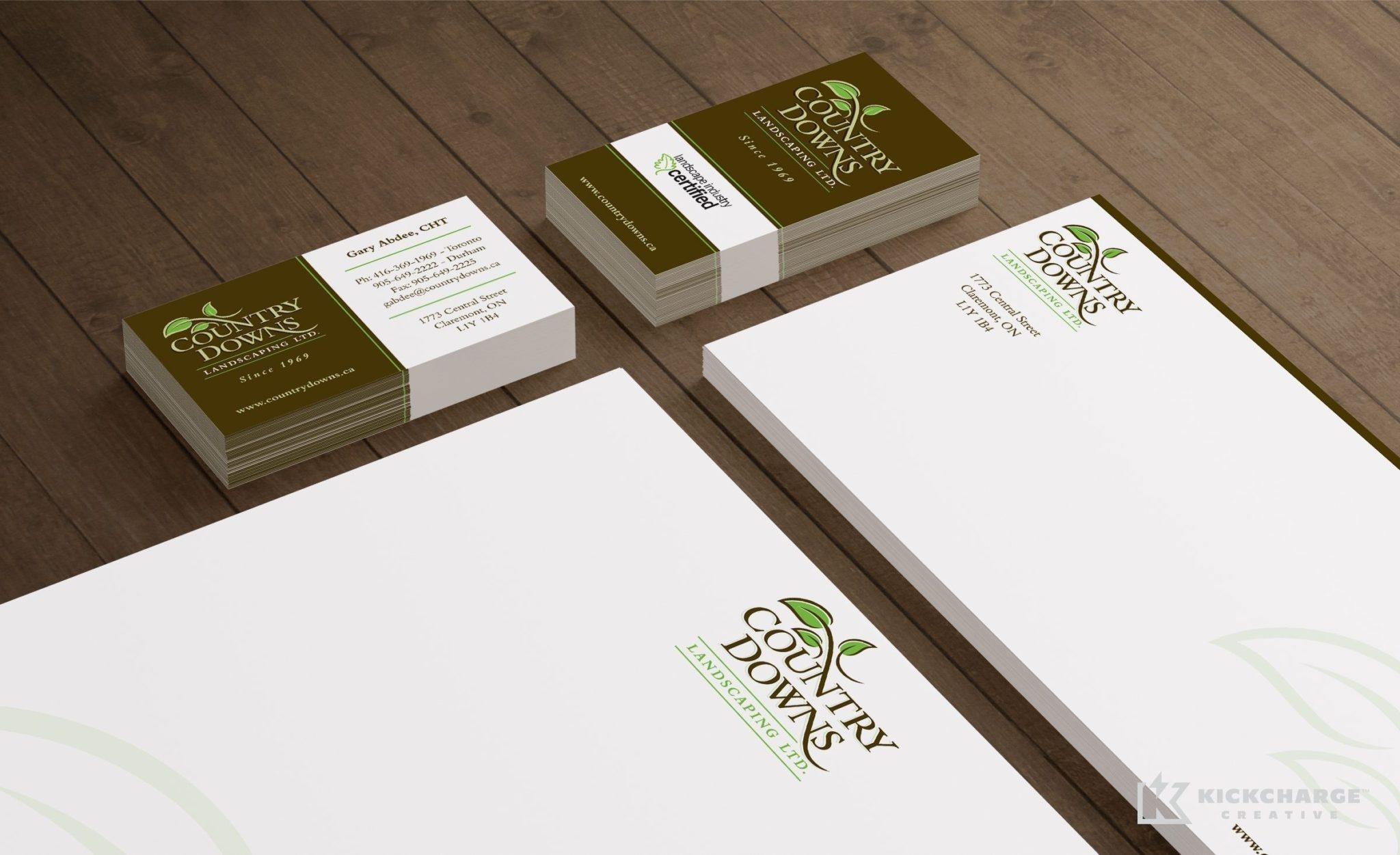 Stationery design for a landscape company in Toronto, Canada.