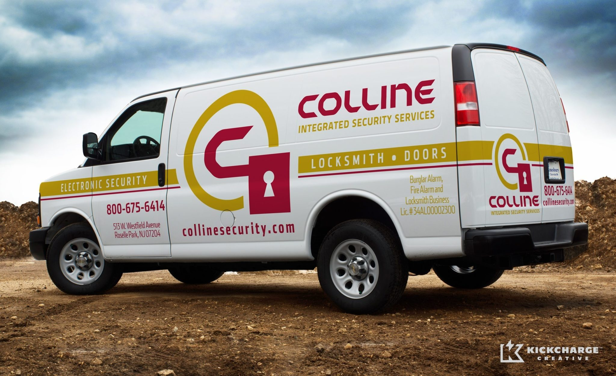 Truck wrap design for a security firm in NJ.