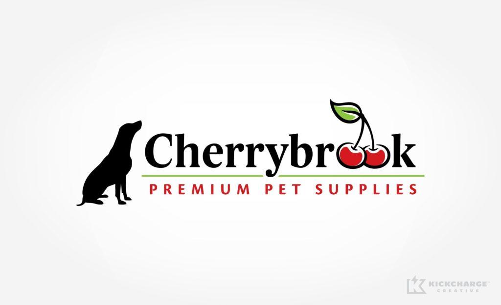 Logo design for Cherrybrook Premium Pet Supplies.
