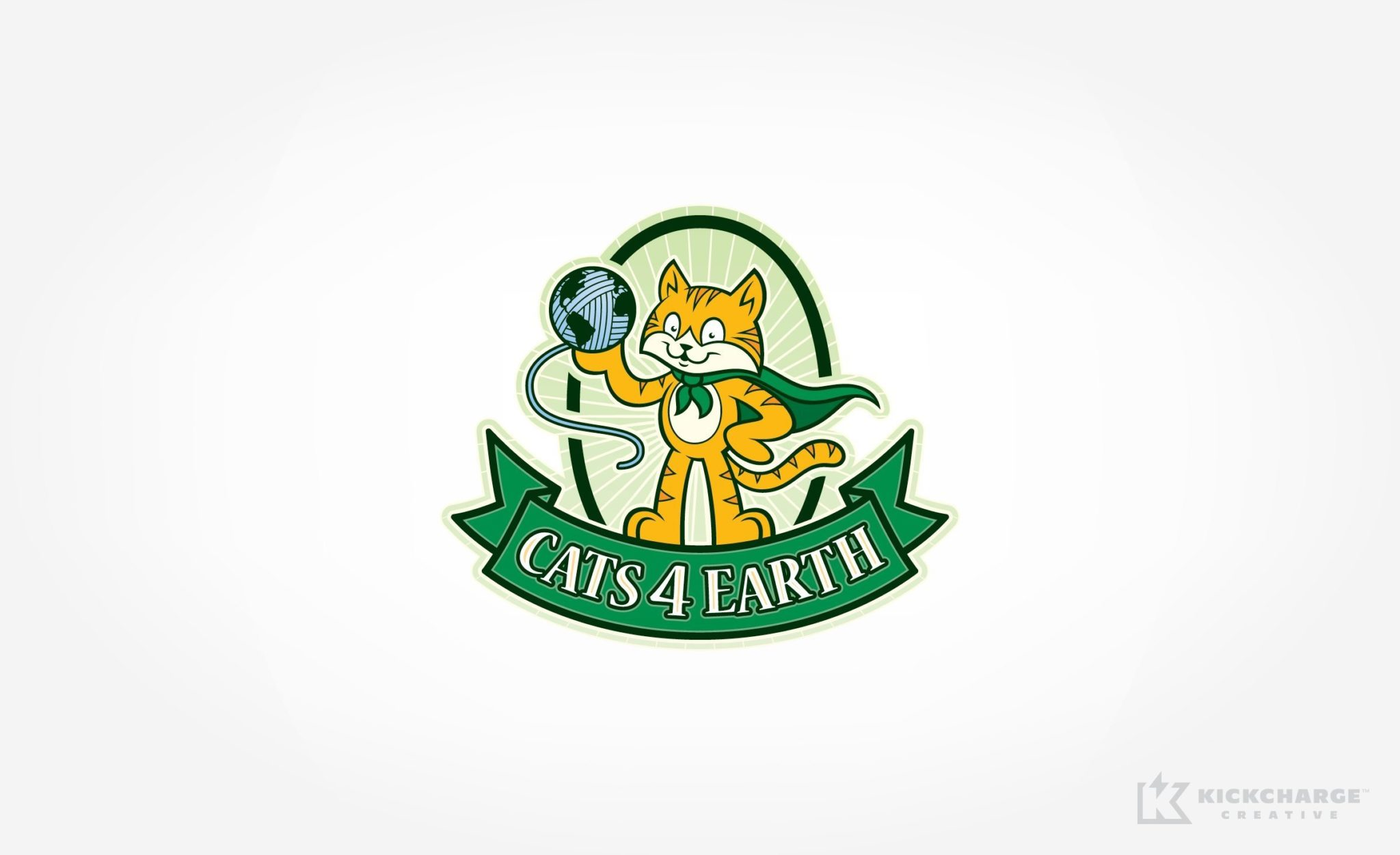 Logo design used for packaging for a cat litter manufacturer in Lehigh Valley, PA.