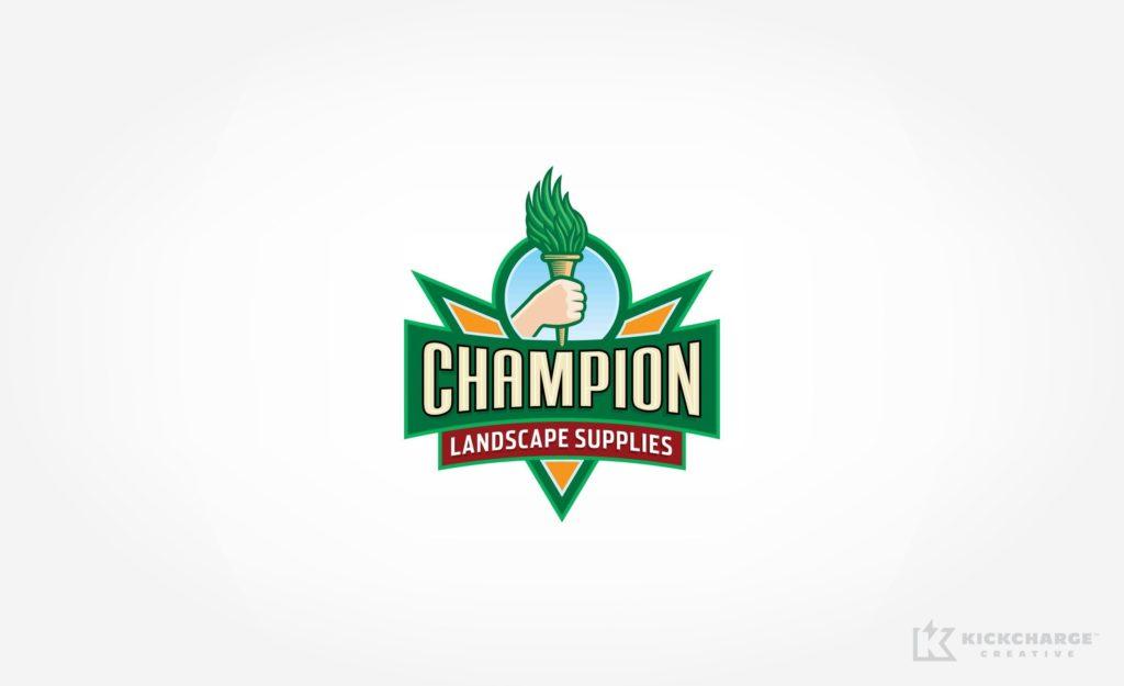 Logo design for Champion Landscape Supplies.