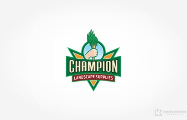 Logo design for Champion Landscape Supplies.