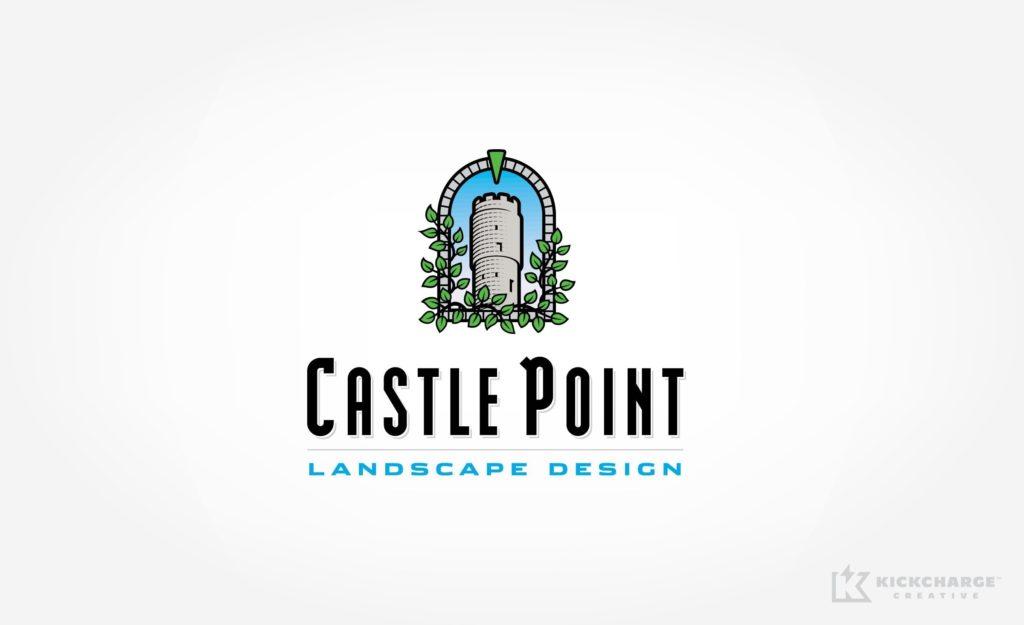 Logo design for Castle Point Landscape Design.