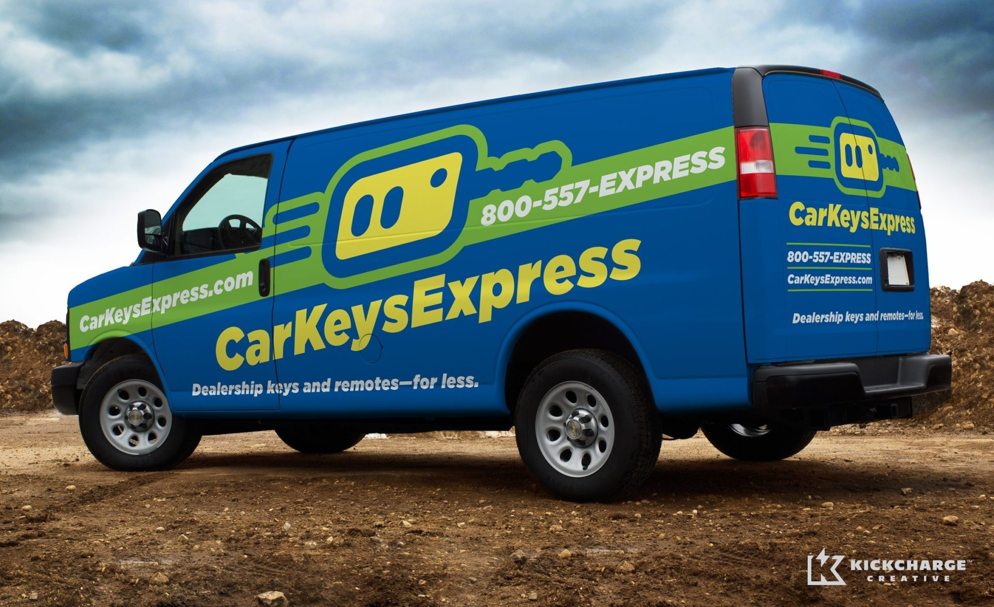 Truck wrap for a key duplication service located in Louisville, KY.
