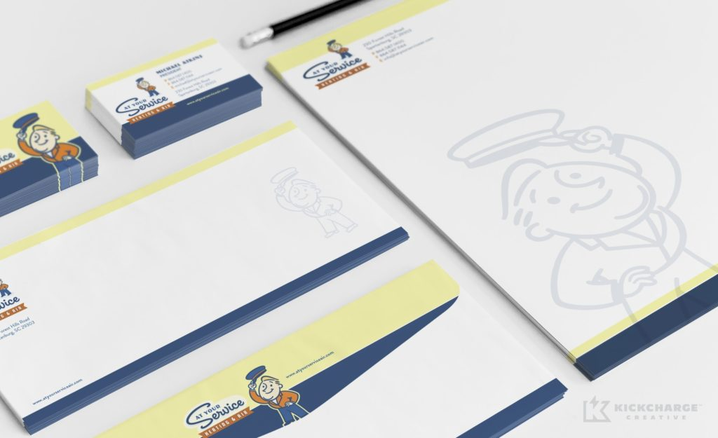 Stationery design for a heating and air company in South Carolina.
