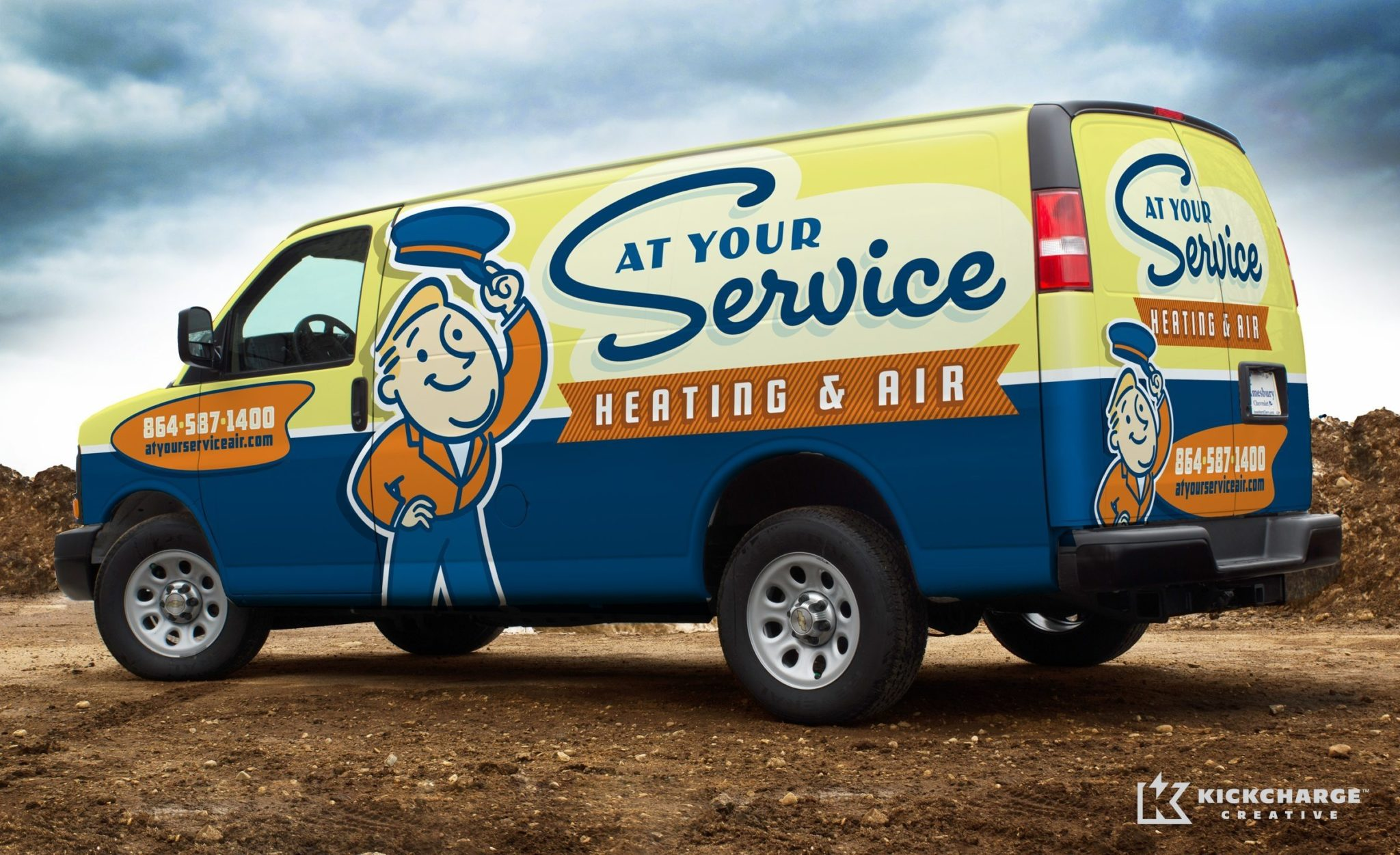 The best logos make for the best truck wraps as illustrated by this HVAC company in Spartanburg, SC.