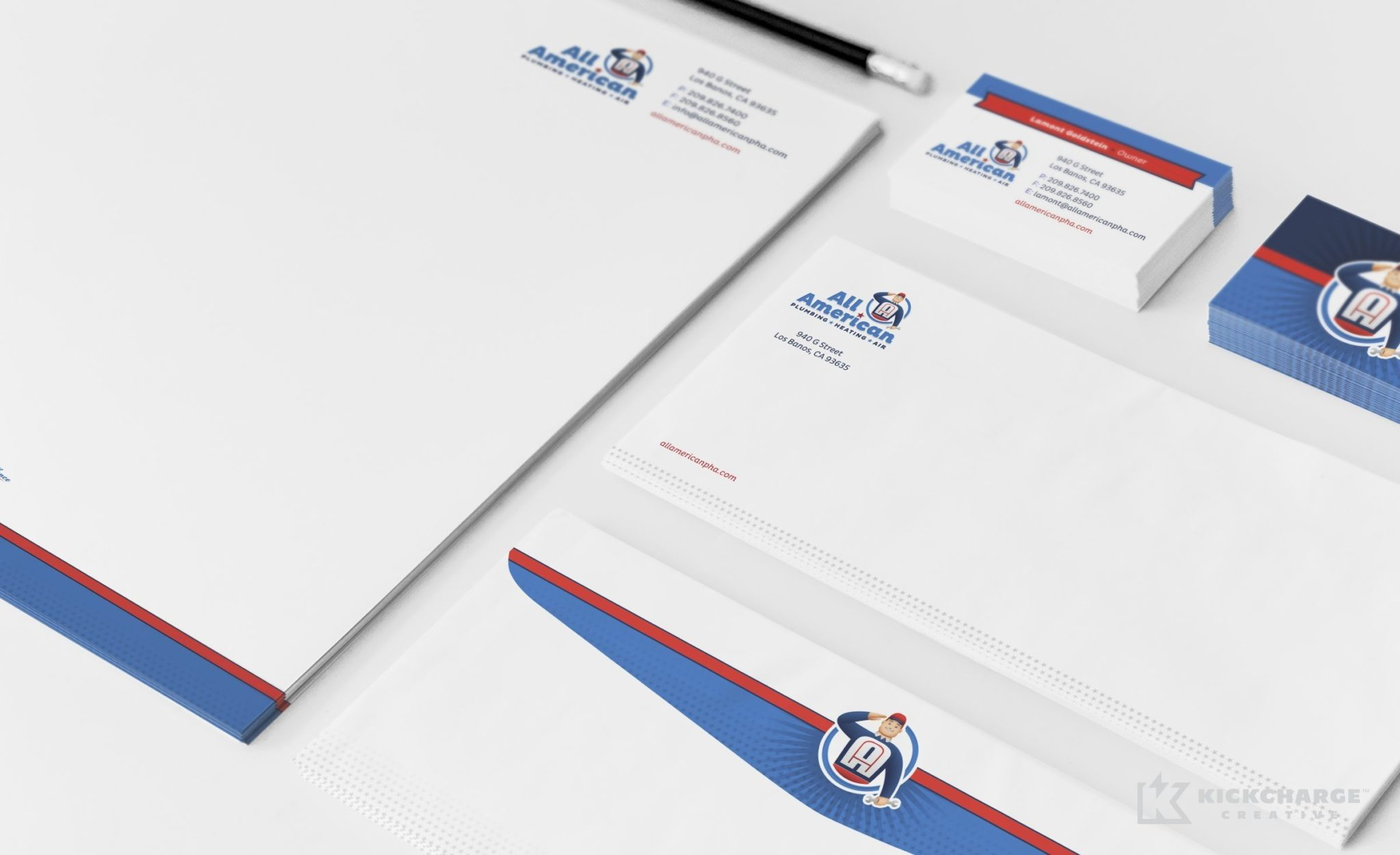 Stationery design for this HVAC contractor in CA.
