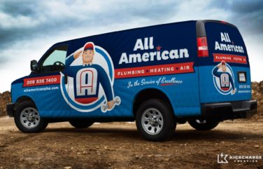 Vehicle wrap design for this HVAC contractor in CA.