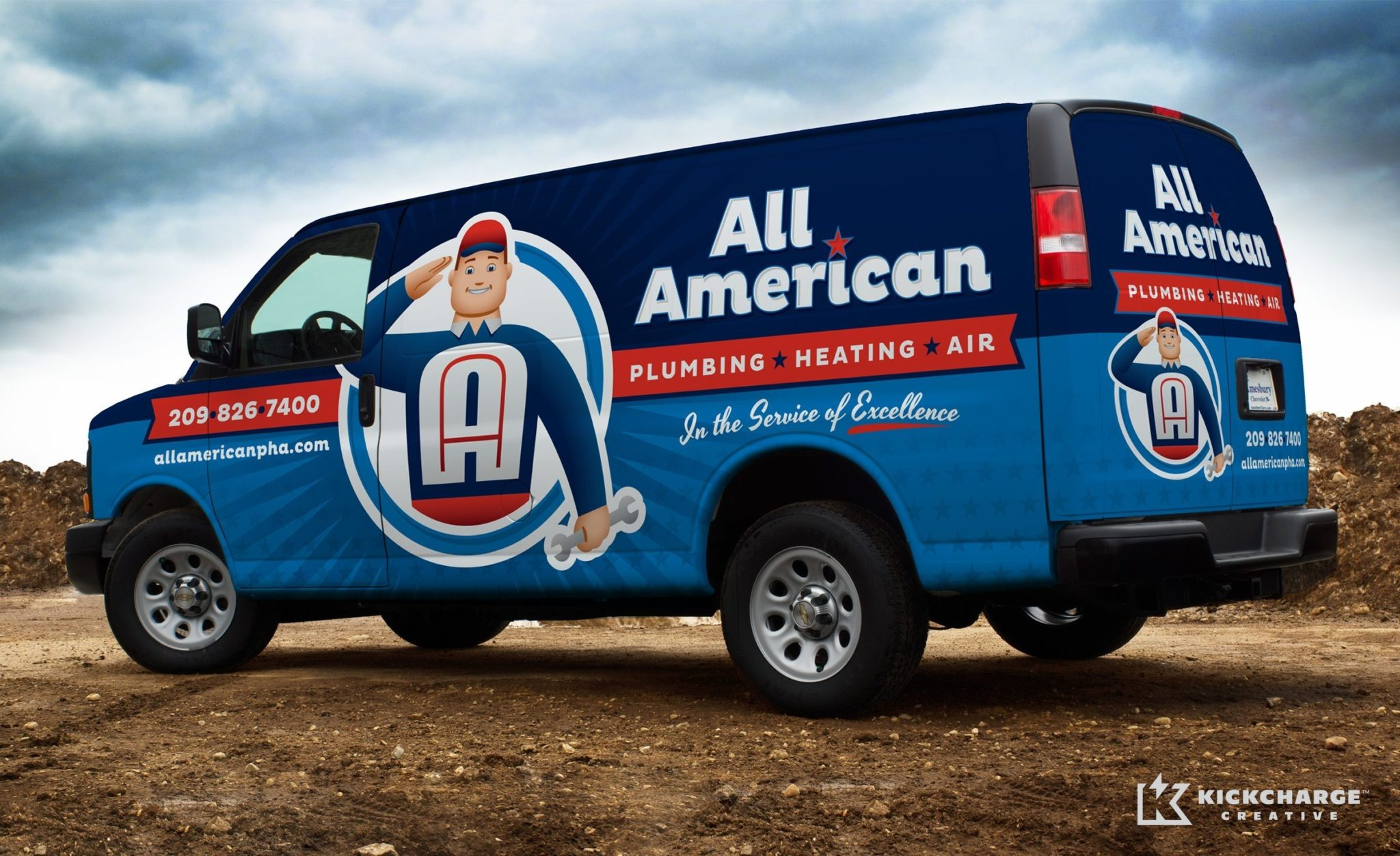 Vehicle Wrap Design For This Hvac Contractor In Ca All American Plumbing