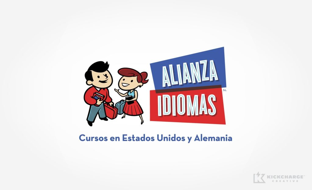Logo design for a client in Spain that runs an exchange program for students to study in the US.