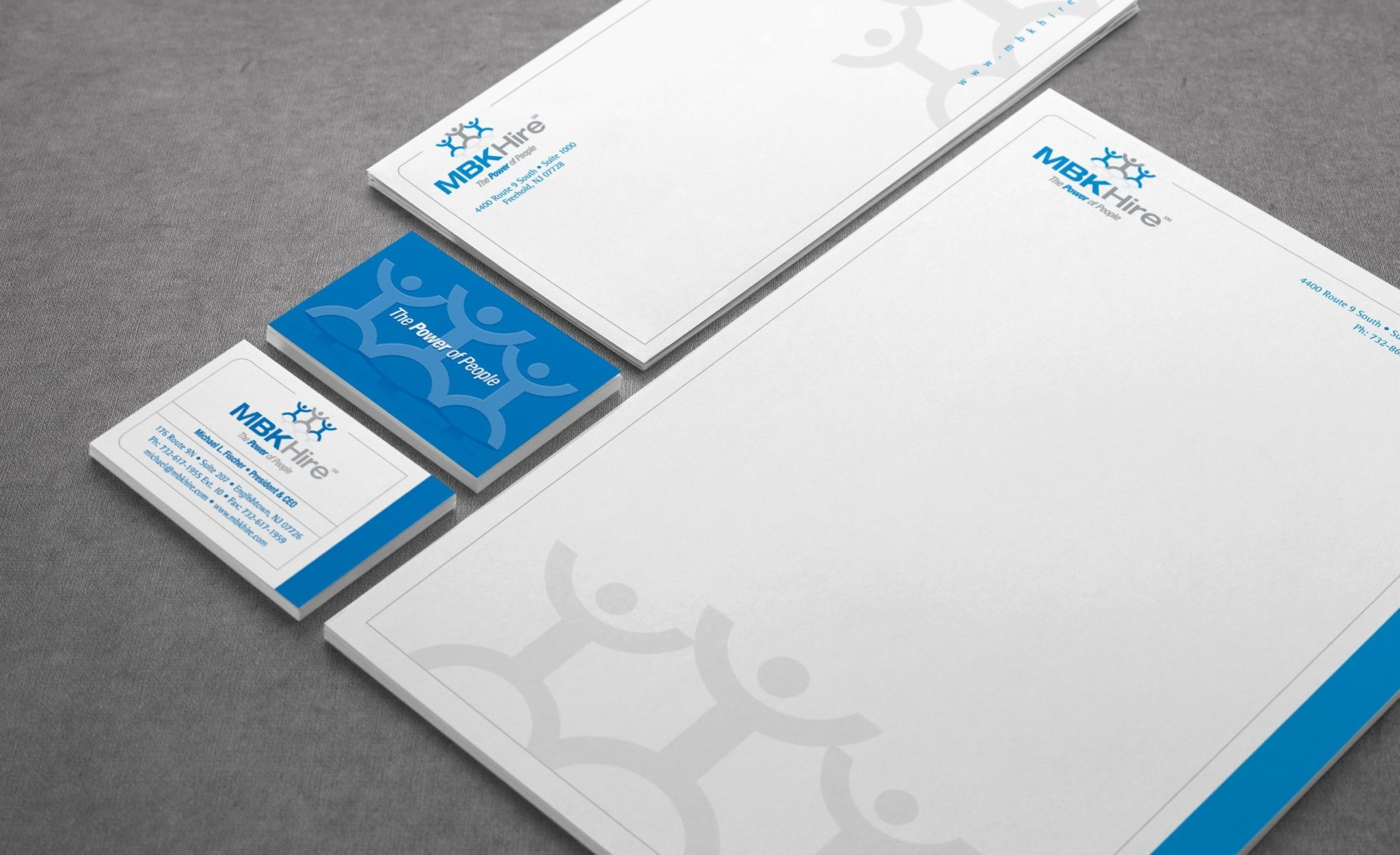 Stationery Design for MBK Hire.