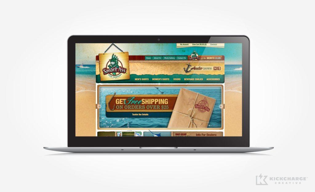 Website design and development for Smart Ass Fish Company