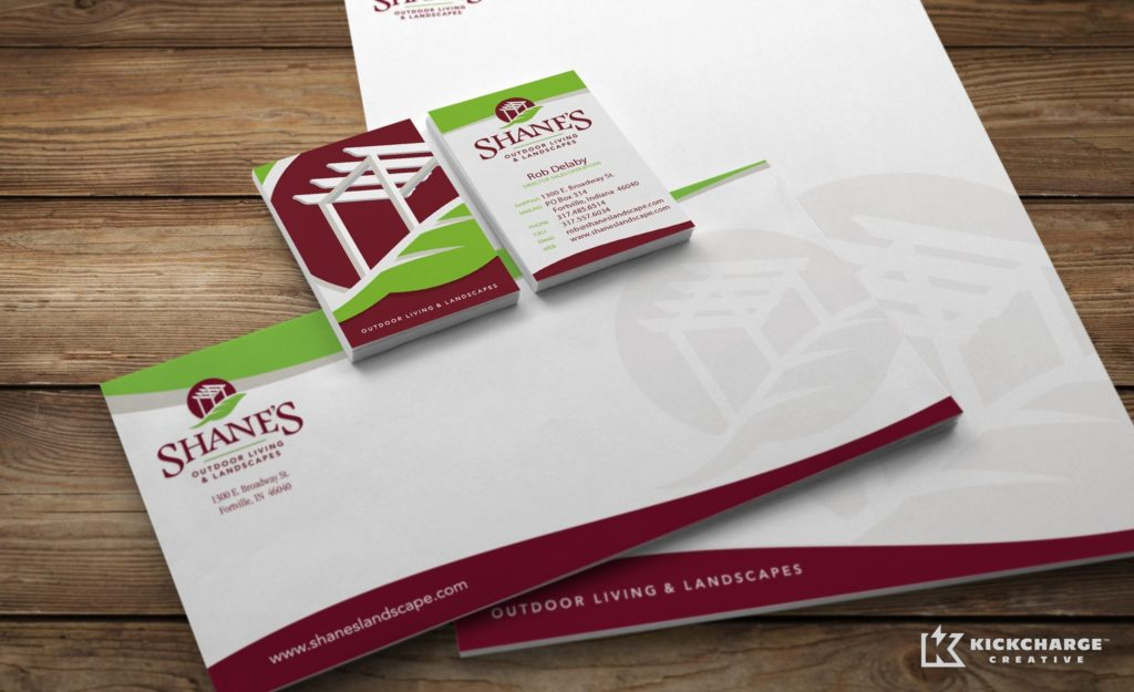 Stationery design and printing for Shanes Outdoor Living & Landscapes.