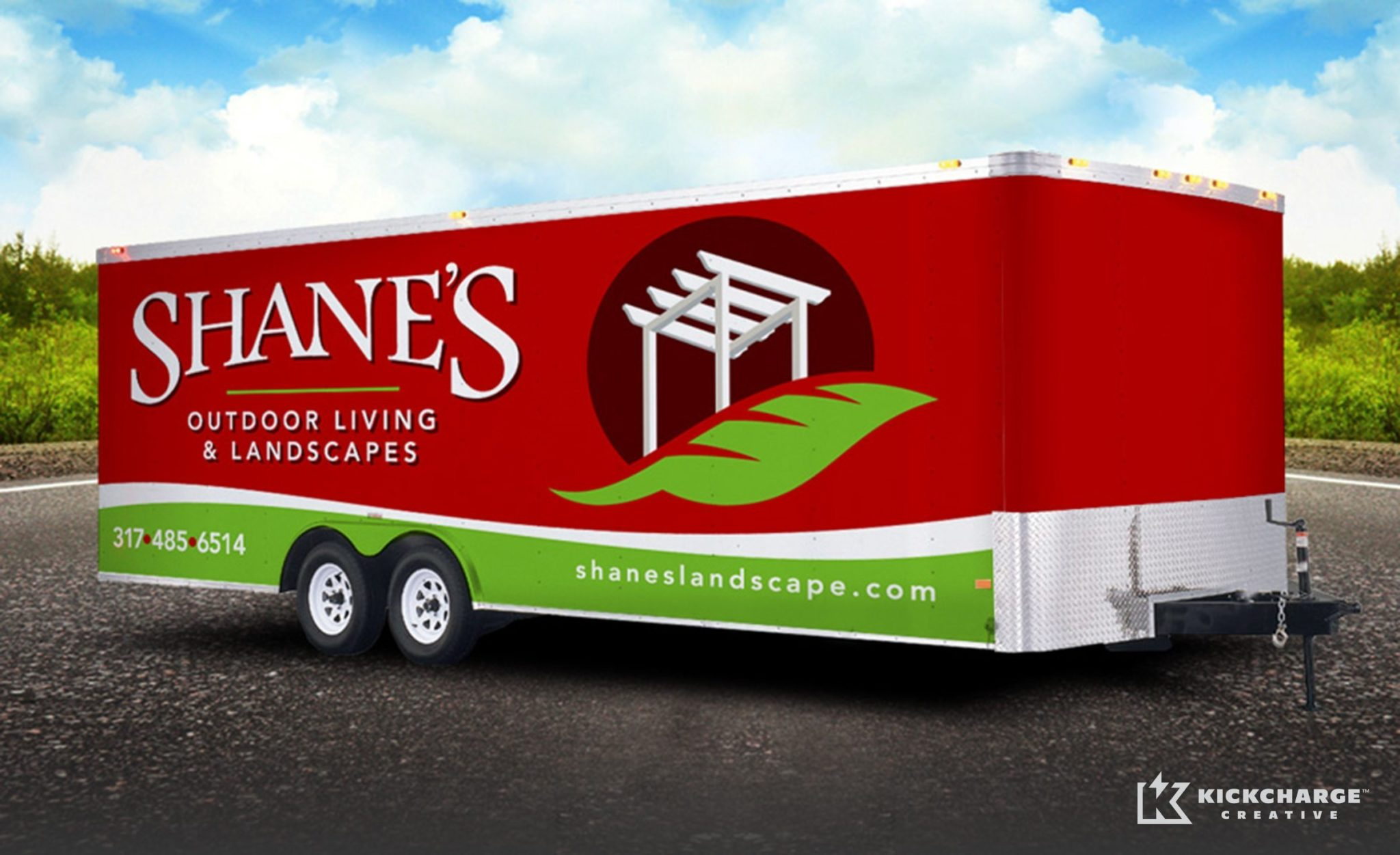 Trailer design for a premier landscape provider in Indiana.