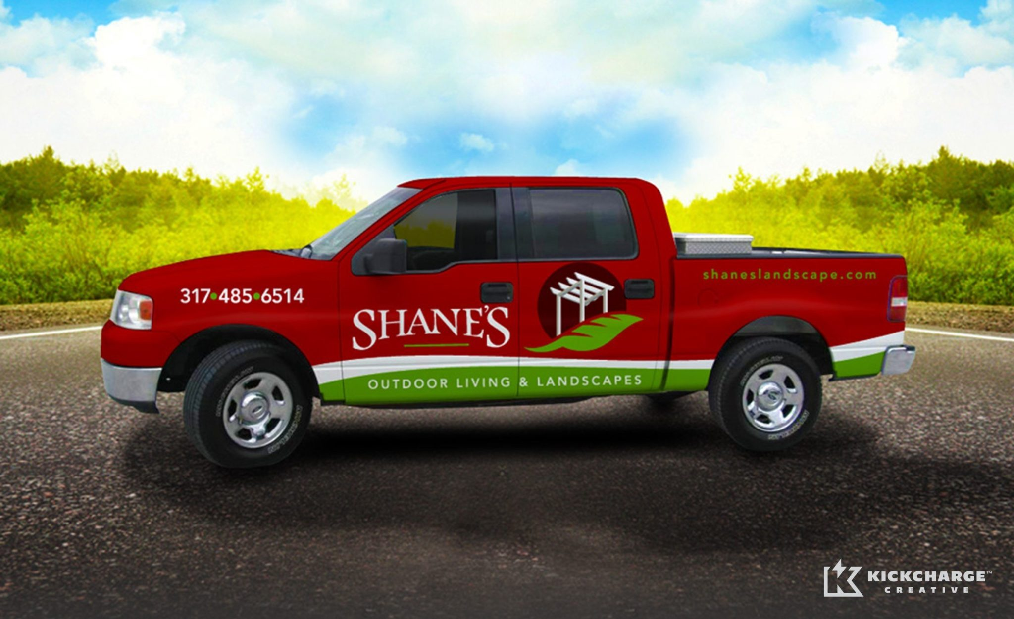 Vehicle wrap design for a premier landscape provider in Indiana.