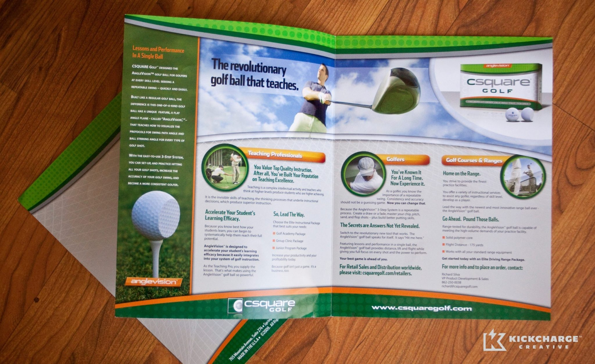 Brochure design for CSquare Golf.
